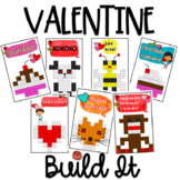 Valentines Day Linking Cube Math Mat Pictures