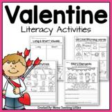 Valentine Literacy Activities - No Prep - Just Print
