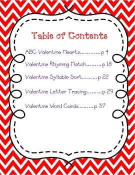 Valentine Literacy Center Bundle