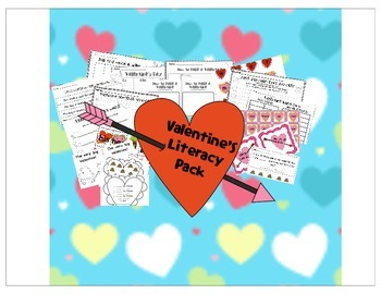 Valentine Literacy Center Pack