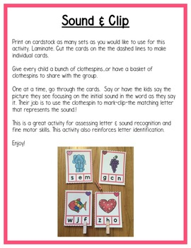 Valentine Literacy Centers: Beginning Sounds for Preschool, PreK, K & Homeschool