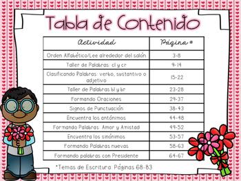 Valentine Literacy Centers in Spanish
