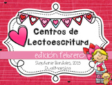 Valentine Literacy Centers in Spanish