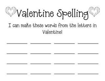 Valentine Literacy Games Fun
