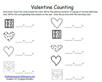 Valentine Literacy & Math Interactive Books