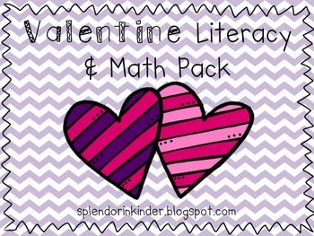 Valentine Literacy & Math Pack