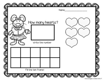 February Literacy and Math Center Bundle