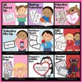 February Literacy and Math Center Bundle