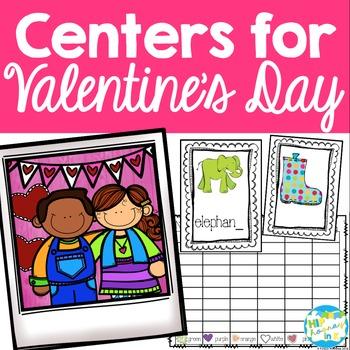 Valentine's Day Literacy Centers & Activities