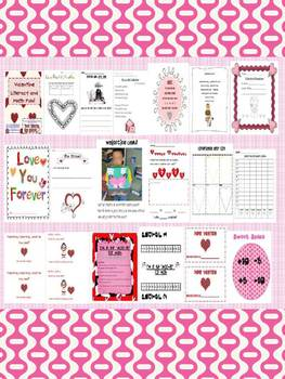 Valentine Literacy and Math Fun