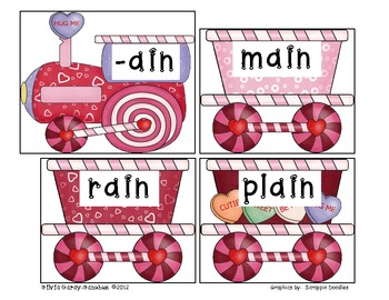 Valentine Long Vowel Word Family Express