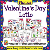 Valentine Lotto- CVC Words