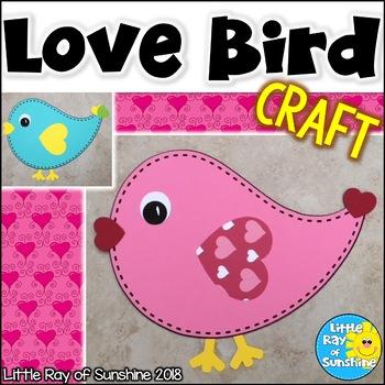 Valentine Love Bird Craft for February