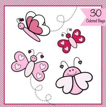 Valentine Love Bug Clip Art - 50 Images!