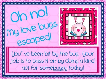 Valentine Love Bug Kindness Activity