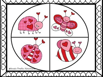 Valentine Love Bug Spinner/Graphing Activity