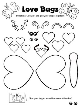 Valentine Love Bugs Class Activities