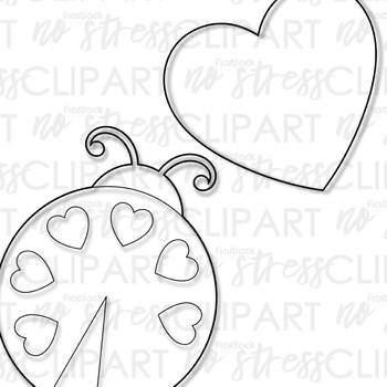 Valentine Love Bugs Clip Art (Digital Use Ok!)