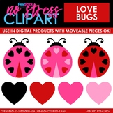 Valentine Love Bugs Clip Art (Digital Use Ok!)