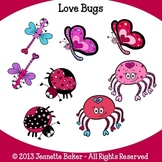 Valentine Love Bugs Clip Art by Jeanette Baker