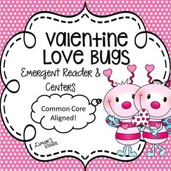 Valentine Love Bugs Emergent Reader & Centers