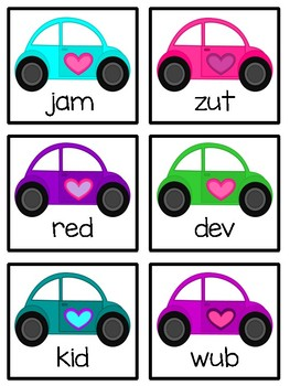 Valentine Love Bugs (Real & Nonsense Words)