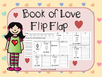 Valentine's Day Love Flip Flap Book & Writing Prompts