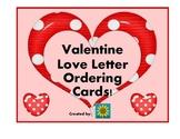 Valentine Love Letter Ordering Cards
