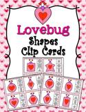 Valentine Lovebug Shapes Clip Cards