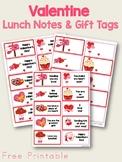 Valentine Lunch Box Notes