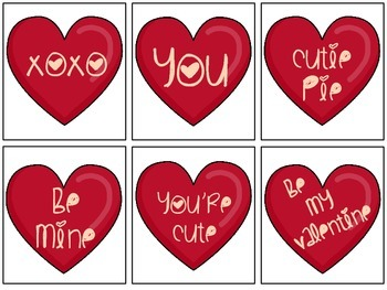 Valentine Love Notes from Teacher  or  Parent