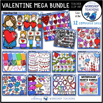 Valentine MEGA Bundle (12 sets-338 files) Whimsy Workshop