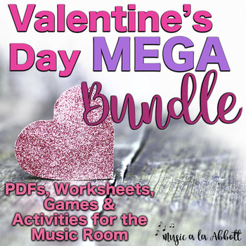 Valentine MEGA Bundle of Songs, PDFs, Game & more for the