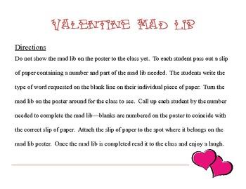 Valentine Mad Lib