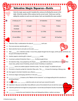Valentine Math - Magic Squares