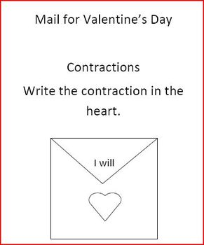 Valentine Mail Call for Contractions