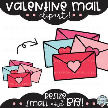 Valentine Mail {valentines clipart}