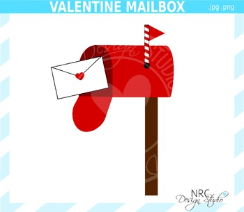Valentine Mailbox Clip Art - Commercial Use Clipart