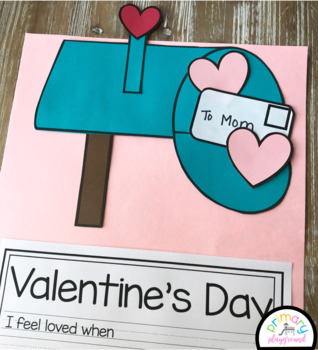 Valentine Mailbox Craft With Writing Prompts/Pages
