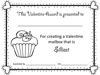 Valentine Mailbox Superlative Awards