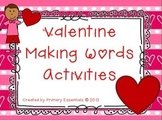 Valentine Making Words Activities