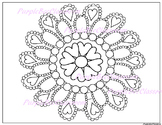 Valentine Mandala Coloring Page
