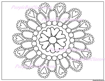 Zentangle Hearts Coloring Page • FREE Printable eBook | Heart ... | 270x350