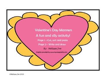 FREE Valentine Manners-Silly word sort and writing activity