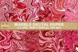 Valentine Marble Textures Digital Papers Background