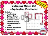 Valentine Match Up - Equivalent Fractions