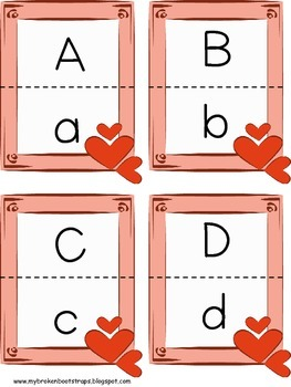 Valentine Matching Letters and Numbers Center