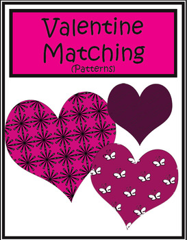 Valentine Matching (Patterns) | Math Center Game