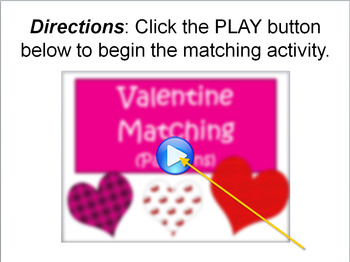 Valentine Matching (Patterns)-Interactive Powerpoint