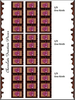 Valentine's Day Math & Easter Math Activities: Chocolate Fractions Math Activity